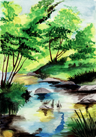 Aquarell River by Mantilein
