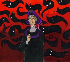 Frollo Faces His Conscience by laerry