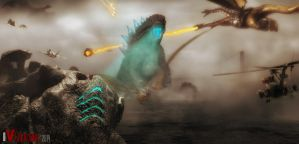 Godzilla 2018 vs Intruder by innocentoVia