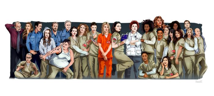 OITNB - Character Spread by DLouiseART