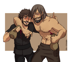 Tristan and Galahad by Ita-chaaan