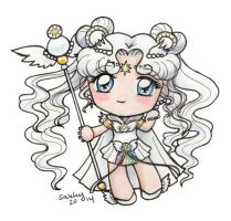 Sailor Moon - Sailor Cosmos Chibi by sakkysa