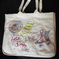 Lolly Savage Roller Derby Bag by Blue-eyed-Kelpie