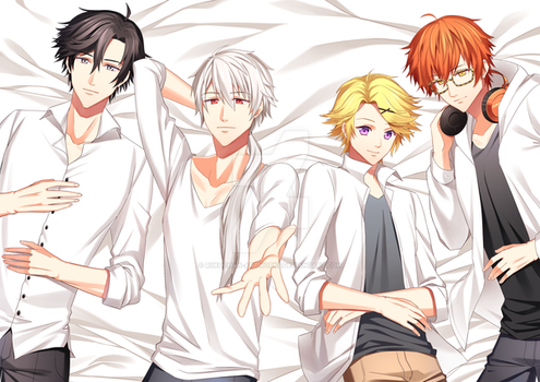 Mystic Messenger Boys by Riikochan-Artworks