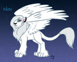 Lion King Ndoto the white winged lion by The-Clockwork-Crow