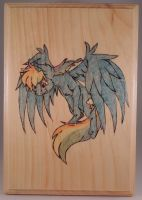Rainbow Dash Wood Burn Colored (Timelapse) by rekibob