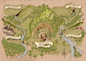 Warrior Cats Clan Territory Map by Daeruth35