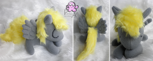 Sleeping Derpy Hooves filly by PinkuArt
