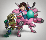 Overwatch - Lucio and D.Va by captainslam