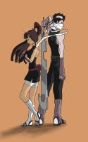 Sakura and Zabuza by Senshisoldier