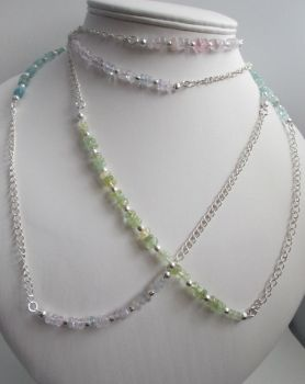 Multicoloured Beryl and Chain Necklace by Valhallia
