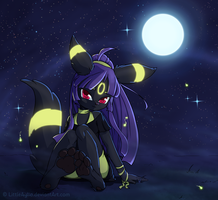#197 Nocturnal Umbreon by LittleAylia