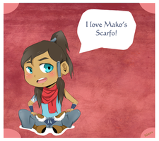 Korra Loves Mako's Scarfo by Rubrik079