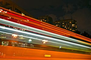 a bus passing by by Albenika