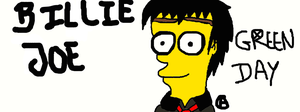 Painting Simpsonized Billie Joe by Haruhiy