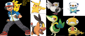 ASH's true pokemon team for BW by Armonsterz
