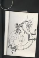 drawing of dragon by FROSTBYTE-BWM