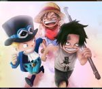 Ancient Times - Sabo, Ace and Luffy by Ythanos