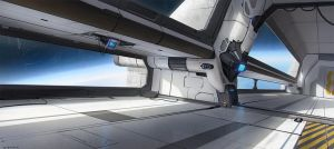 Space station concept by thomaswievegg