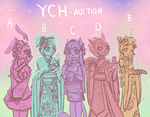 YCH Auction [OPEN] Girls Kimono by Shide-Dy