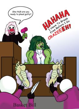 She-Hulk's Ticklish Trial by whotwolf