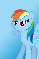Rainbow Dash Ready Wallpaper by ParticleJello