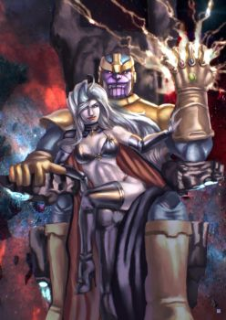 Thanos Lady Death by cric