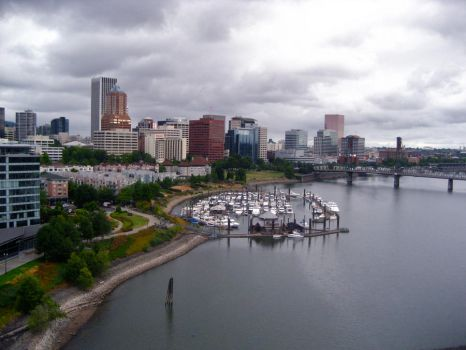 cloudy downtown ptown by co1dpaws