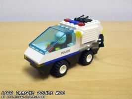 LEGO Traffic Police car MOC animation by ninjatoespapercraft