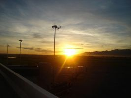 sunrise at the airport by nelmski
