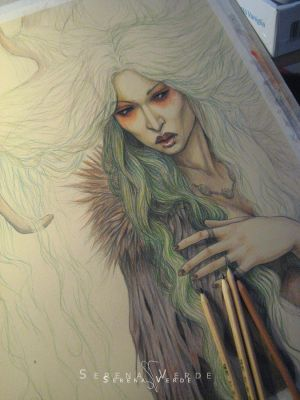 The Wood Witch - WIP by SerenaVerdeArt