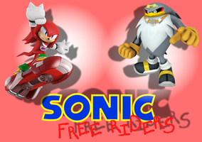 Sonic Free Riders - Knuckles and Storm - Wallpaper by BingotheCat