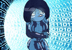 Cortana The Feminine Hologram by GoldenBonnie1987