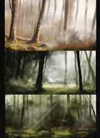 Forest Speedpaints by Roiuky