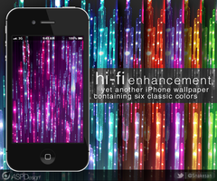hi-fi enhancement iPhone Wallpaper by Snakesan