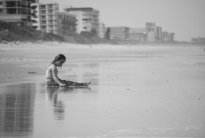 Playing in the Ocean by Lady-Jen