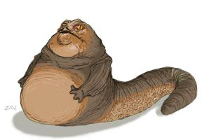 Jabba the Hutt by monkeyzav