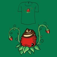 Woot Shirt - Strawberry Squid by fablefire