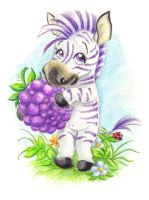 Blackberry zebra by jkBunny