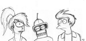 Futurama Sketches by wahyawolf