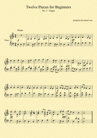 Piano Music for Beginners - 3 by PomPrint