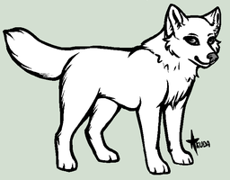 puppy or chibi wolf template by stelliformed