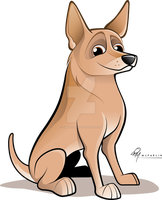 Cattle Dog Caricature by timmcfarlin