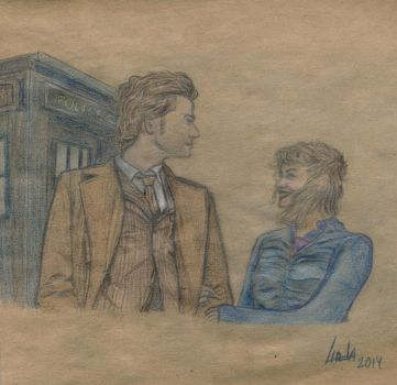 The Doctor and Rose Tyler by linda4400