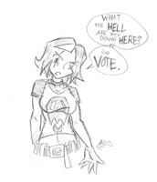 Daily Sketch 165: Go friggin' vote by ReluctantZombie