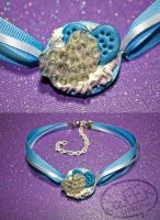 Baby Blue Cookie Love Lolita Choker by squeekaboo
