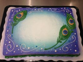 Peacock Feathers Cake by AingelCakes
