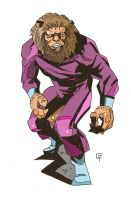Cycle-riding Lion-man by ChrisFaccone
