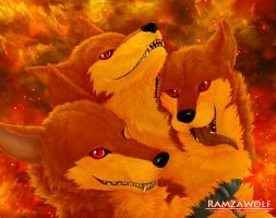 Red Cerberus 2 by RamzaWolf