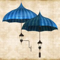 Blue Umbrella Lamp by Just-A-Little-Knotty